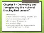 chapter 4 developing and strengthening the national enabling environment