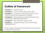 outline of framework