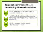 regional commitments to developing green growth tool
