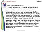 kasus perancangan sistem menagih pembayaran pt papirus makmur