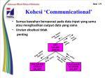 kohesi communicational