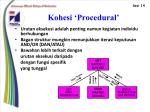 kohesi procedural