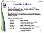 spesifikasi modul