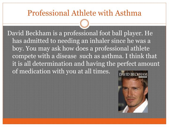 Professional athlete with asthma