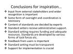 conclusions for inspiration