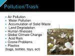pollution trash