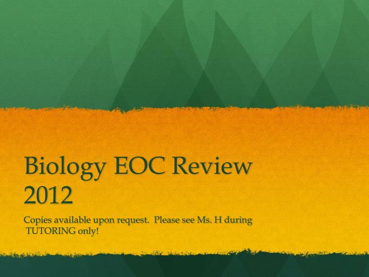 biology eoc review 2012 n.