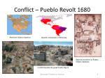 conflict pueblo revolt 1680