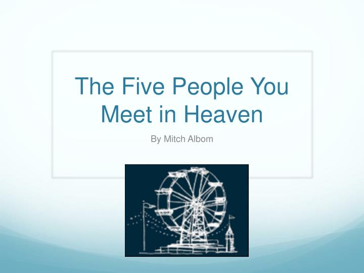 the five people you meet in heaven n.
