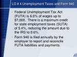lo 4 unemployment taxes and form 940