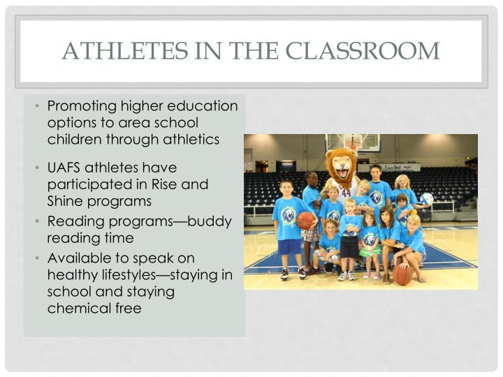 ATHLETES IN THE CLASSROOM
