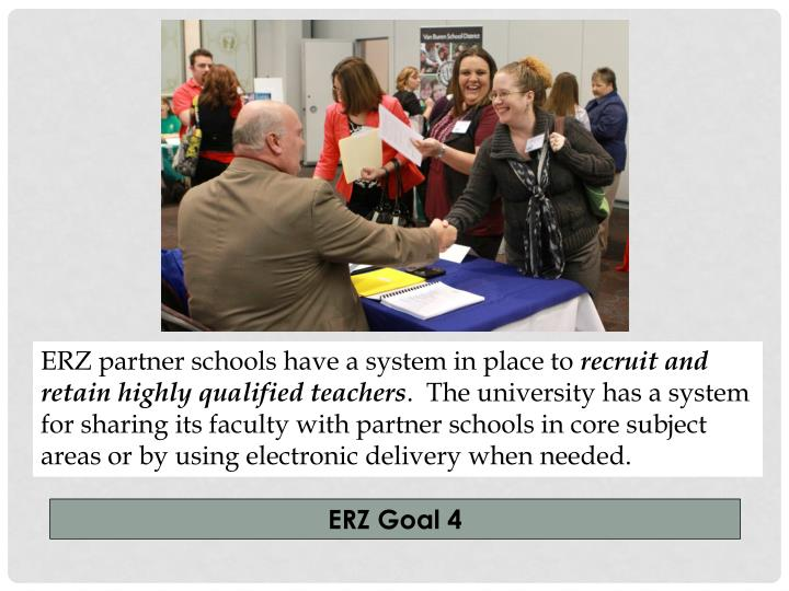 ERZ partner schools have a system in place to