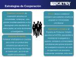 estrategias de cooperaci n