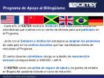 programa de apoyo al biling ismo
