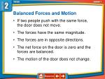 balanced forces and motion