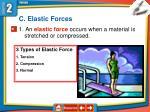 c elastic forces