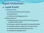 aspek globalisasi
