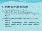 c dampak globalisasi