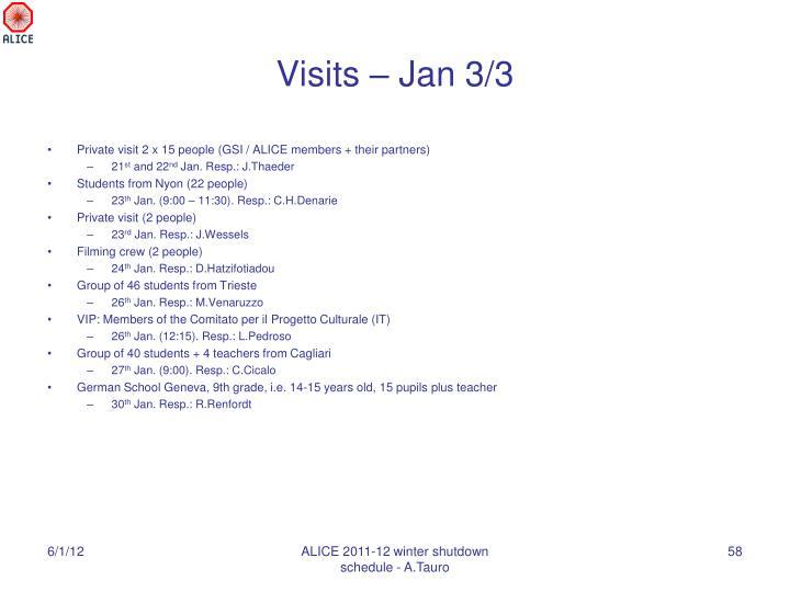 Visits – Jan 3/3