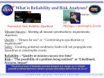 what is reliability and risk analyses