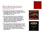 skandinavisk kultur scandinavian culture