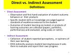 direct vs indirect assessment definitions