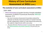 history of core curriculum assessment at shsu cont2