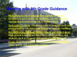 meeting with 9th grade guidance
