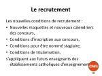 le recrutement1