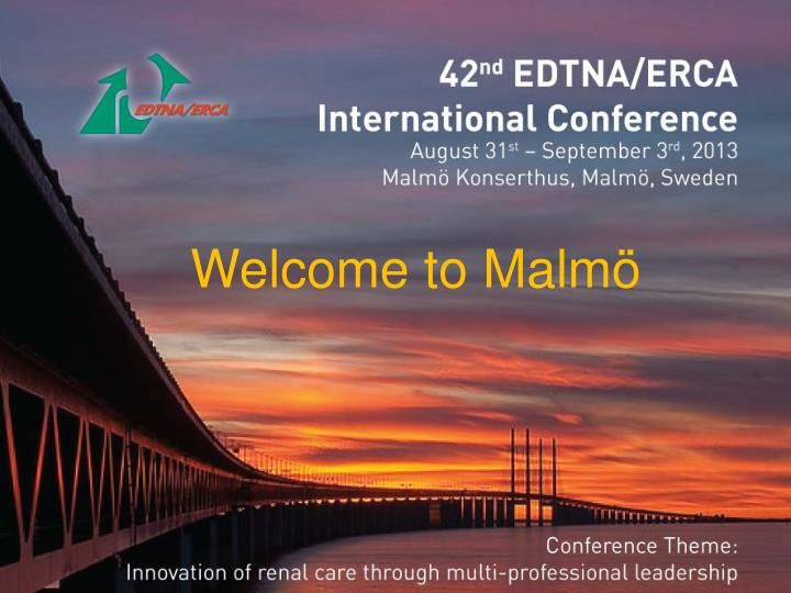 welcome to edtna erca conference in malm n.