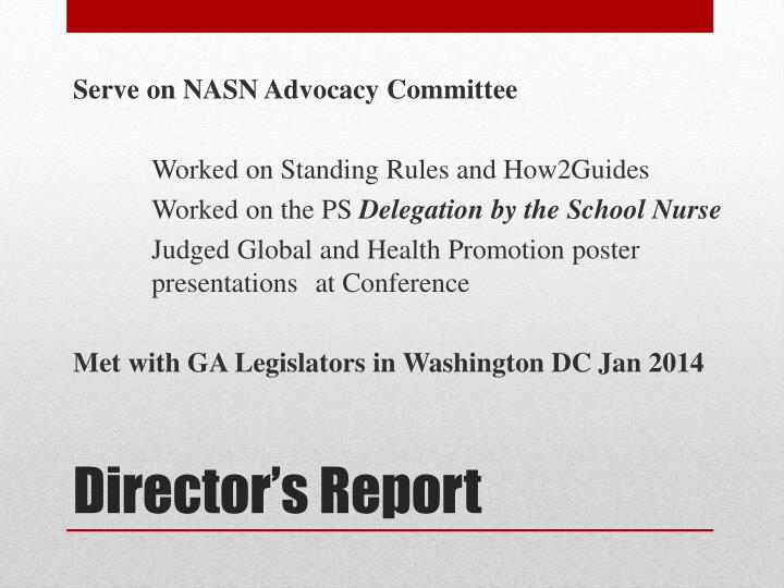 Serve on NASN Advocacy Committee