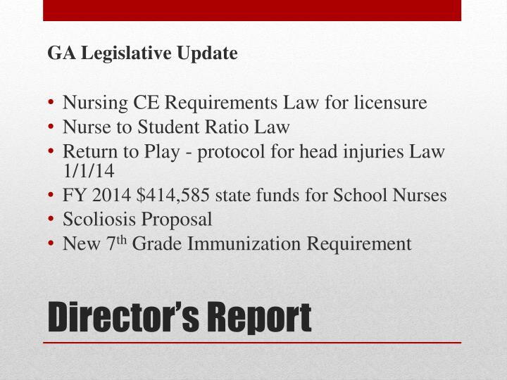 GA Legislative Update