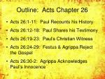 outline acts chapter 26