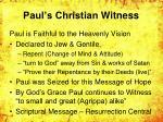 paul s christian witness