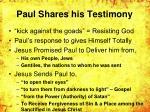 paul shares his testimony
