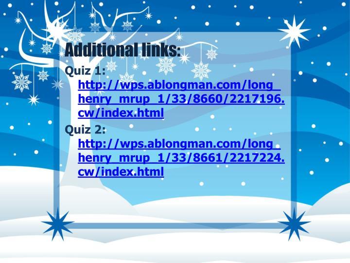 Additional links: