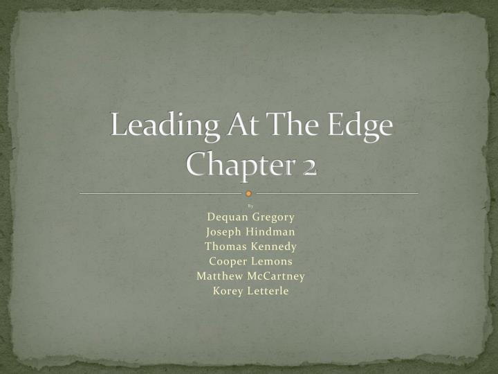 leading at the edge chapter 2 n.