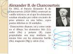 alexander b de chancourtois