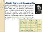 dimitri ivanovich mendeleiev