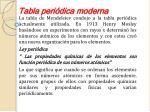 tabla peri dica moderna