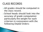 class records