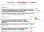evolution of a pedagogical pattern