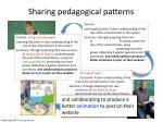 sharing pedagogical patterns1