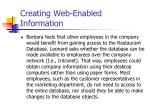 creating web enabled information