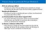 prise en charge du protocole ipv6 par windows 8