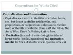 conventions for works cited