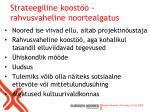 strateegiline koost rahvusvaheline noortealgatus