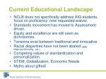 current educational landscape