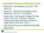 legislation policies related to aig