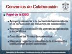 convenios de colaboraci n